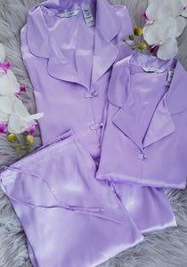 Delicates 3 Piece Lounge Sleep Wear Silk Pajamas